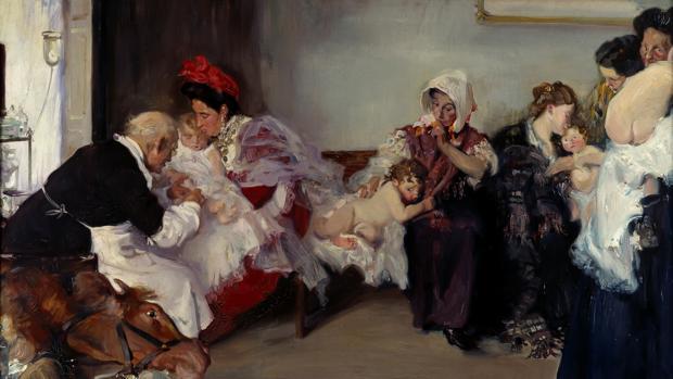 «Vacunación de niños» Borrás Avellá Vicente - Museo Nacional del Prado