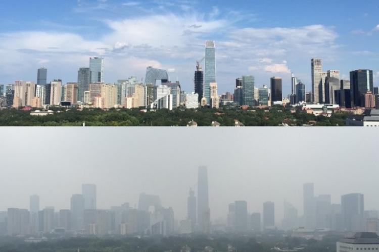 La concentración de partículas en el aire contaminado de Pekín supera frecuentemente los 250 microgramos por metro cúbico, unas diez veces más que el límite considerado seguro por la Organización Mundial de la Salud.
